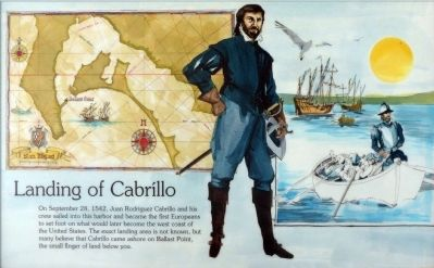 Landing of Cabríllo Marker image. Click for full size.