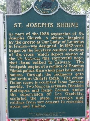 St. Joseph's Shrine Marker image. Click for full size.