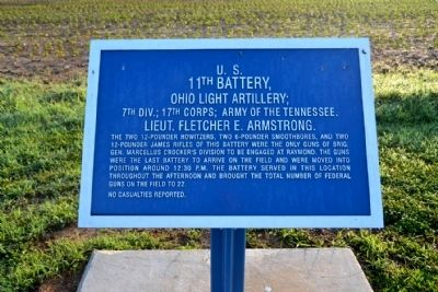 U.S. 11th Battery, Ohio Light Artillery Marker image. Click for full size.