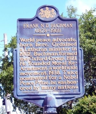 Frank N.D. Buchman Marker image. Click for full size.