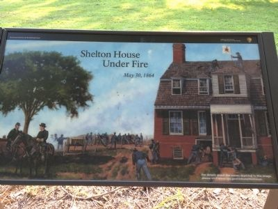 Shelton House Under Fire Marker image. Click for full size.