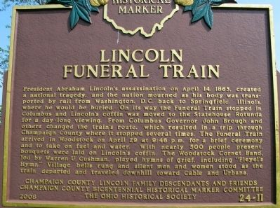 LincolnFuneral Train Marker image. Click for full size.