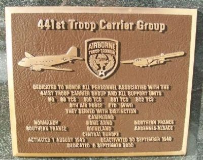 441st Troop Carrier Group Marker image. Click for full size.