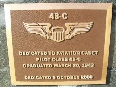 Army Air Corps Aviation Cadet Class 43-C Marker image. Click for full size.