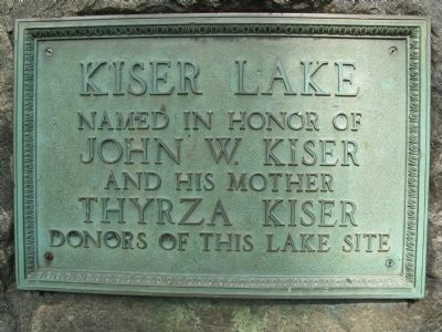 Kiser Lake Marker image. Click for full size.
