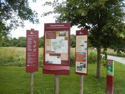Stroud Preserve Marker and map image. Click for full size.