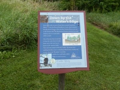 Down by the Water's Edge Marker image. Click for full size.