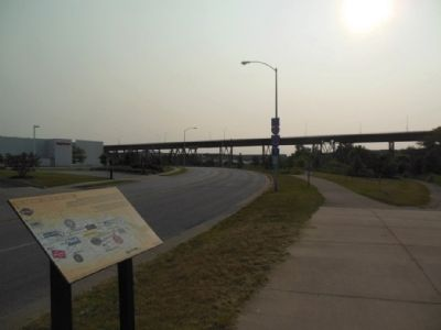 Menomonee Valley Today, looking towards the 35th Street Bridge image. Click for full size.