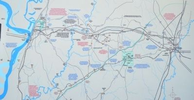 Upper Map of the Vicksburg Campaign Driving Tour image. Click for full size.