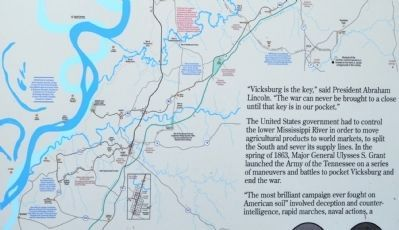 Lower Map of the Vicksburg Campaign Driving Tour image. Click for full size.