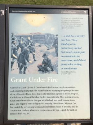 Grant Under Fire Marker image. Click for full size.