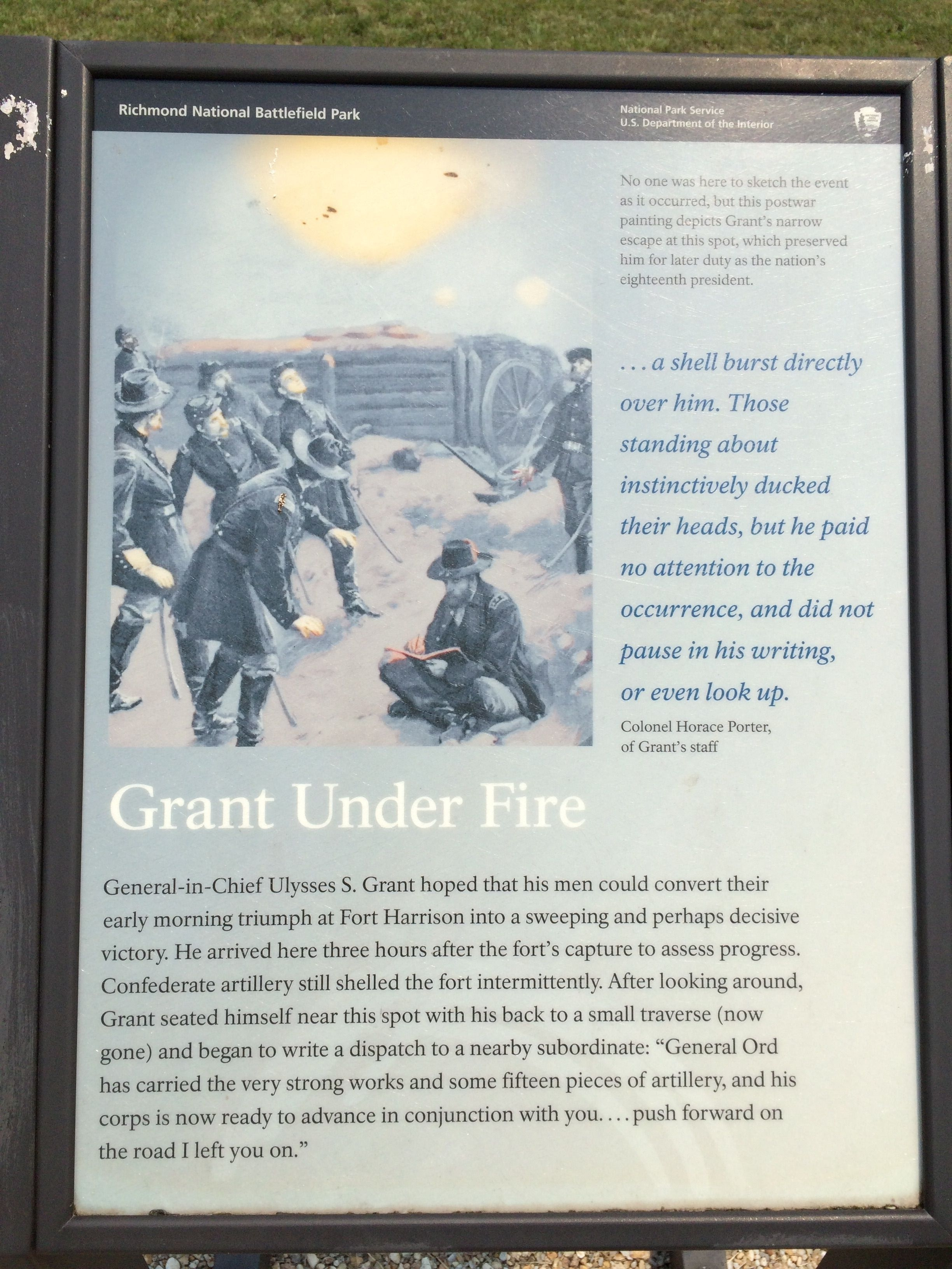 Grant Under Fire Marker