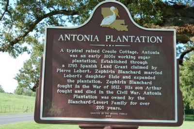 Antonia Plantation Marker image. Click for full size.