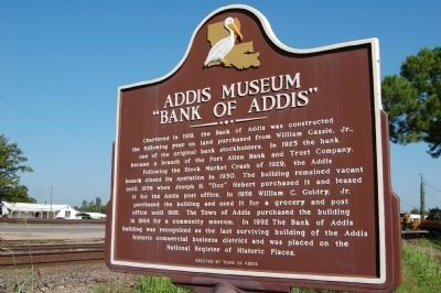 Addis Museum Marker image. Click for full size.
