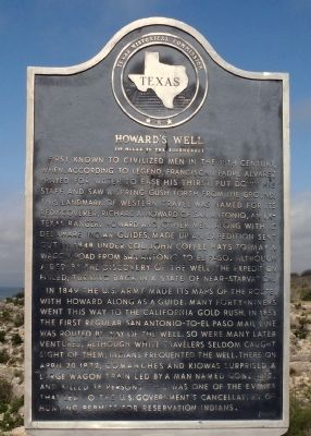 Howard's Well Marker image. Click for full size.