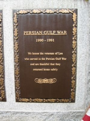 Persian Gulf War Plaque image. Click for full size.