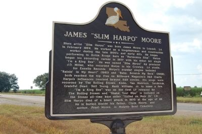 "James ""Slim Harpo"" Moore Marker image. Click for full size."