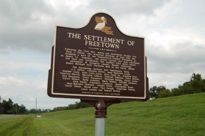 The Settlement Of Freetown Marker image. Click for full size.