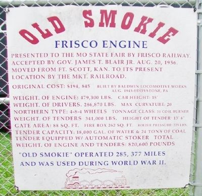 Old Smokie Frisco Engine Marker image. Click for full size.