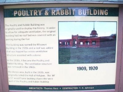 Poultry & Rabbit Building Marker image. Click for full size.