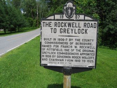 The Rockwell Road To Greylock Marker image. Click for full size.