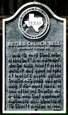 Butler Church Bell Marker image. Click for full size.