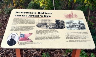 DeGolyer's Battery and the Artist's Eye Marker image. Click for full size.