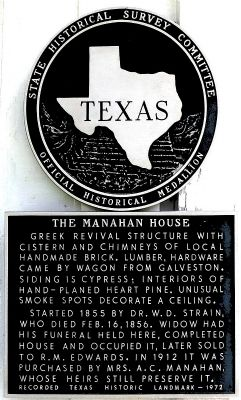 The Manahan House Marker image. Click for full size.