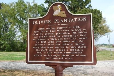Olivier Plantation Marker image. Click for full size.