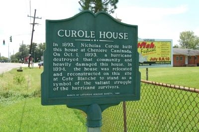 Curole House Marker image. Click for full size.