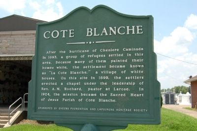 Cote Blanche Marker image. Click for full size.