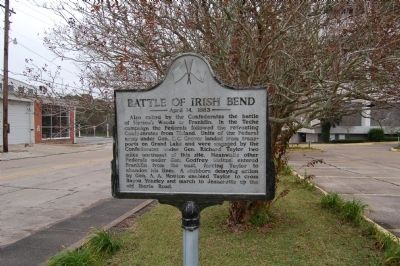 Battle Of Irish Bend Marker image. Click for full size.