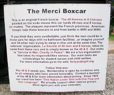 The Merci Boxcar Marker image. Click for full size.