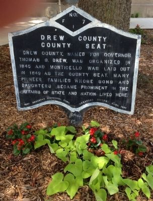 Drew County Marker image. Click for full size.