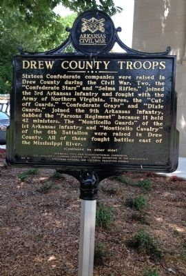 Drew County Troops Marker image. Click for full size.