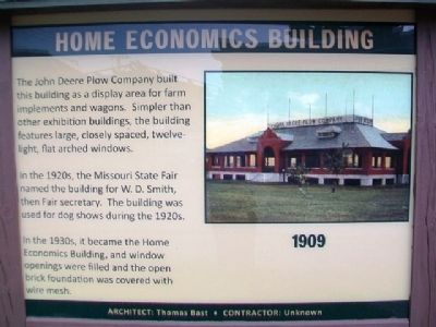 Home Economics Building Marker image. Click for full size.