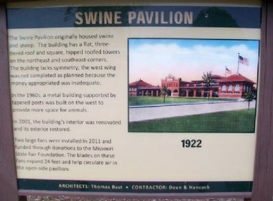 Swine Pavilion Marker image. Click for full size.