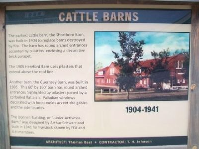 Cattle Barns Marker image. Click for full size.