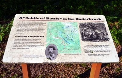 "A ""Soldiers' Battle"" in the Underbrush Marker image. Click for full size."