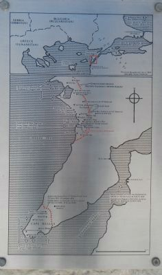 The Gallipoli Campaign of 1915 Marker (map) image. Click for full size.