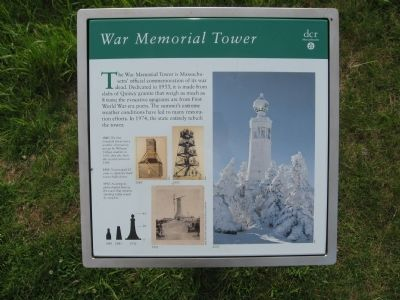 War Memorial Tower Marker image. Click for full size.