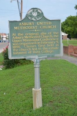 Ashbury United Methodist Church Marker image. Click for full size.