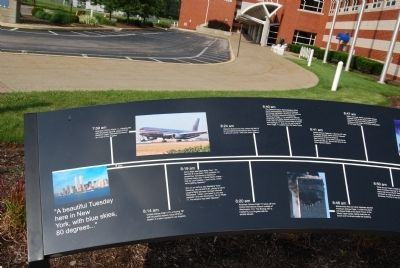 Erie 9-11 Memorial Timeline close-up image. Click for full size.