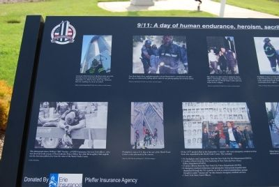 Erie 9-11 Memorial Heroism close-up image. Click for full size.
