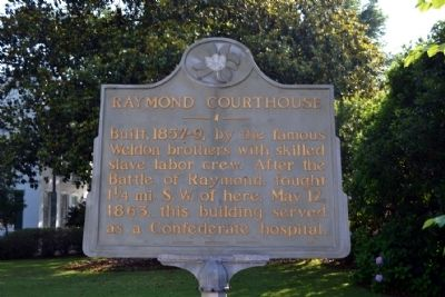 Raymond Courthouse Marker image. Click for full size.