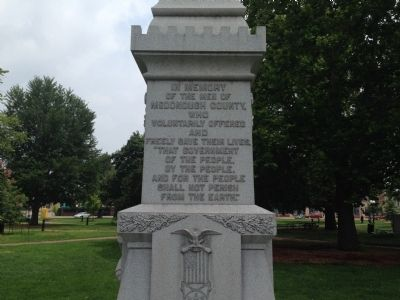 Civil War Soldier Monument at Chandler Park Marker image. Click for full size.