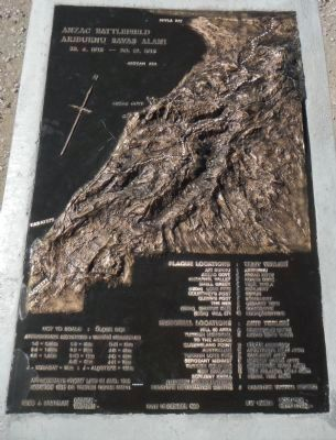 Anzac Battlefield Plaque image. Click for full size.