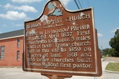 Hebron Baptist Church Marker image. Click for full size.
