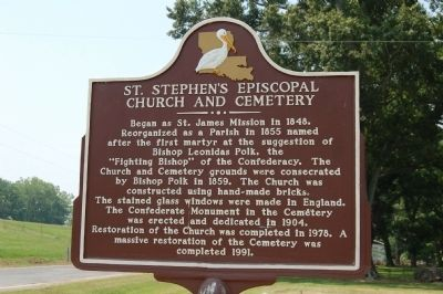 St. Stephen's Episcopal Church and Cemetery Marker image. Click for full size.