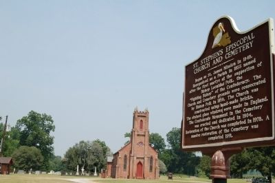 St. Stephen's Episcopal Church and Marker image. Click for full size.